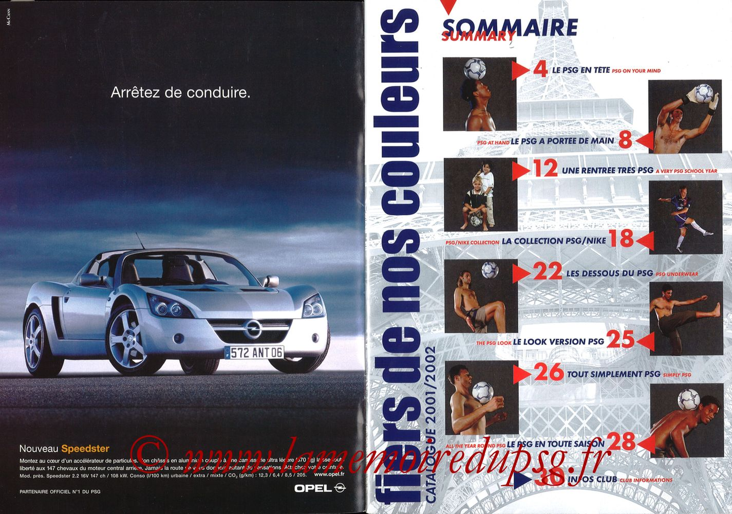 Catalogue PSG - 2001-02 - Pages 02 et 03