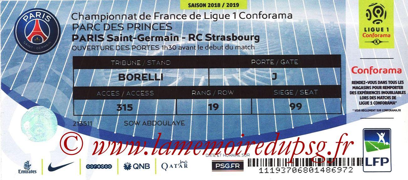 2019-04-07  PSG-Strasbourg (31ème L1)