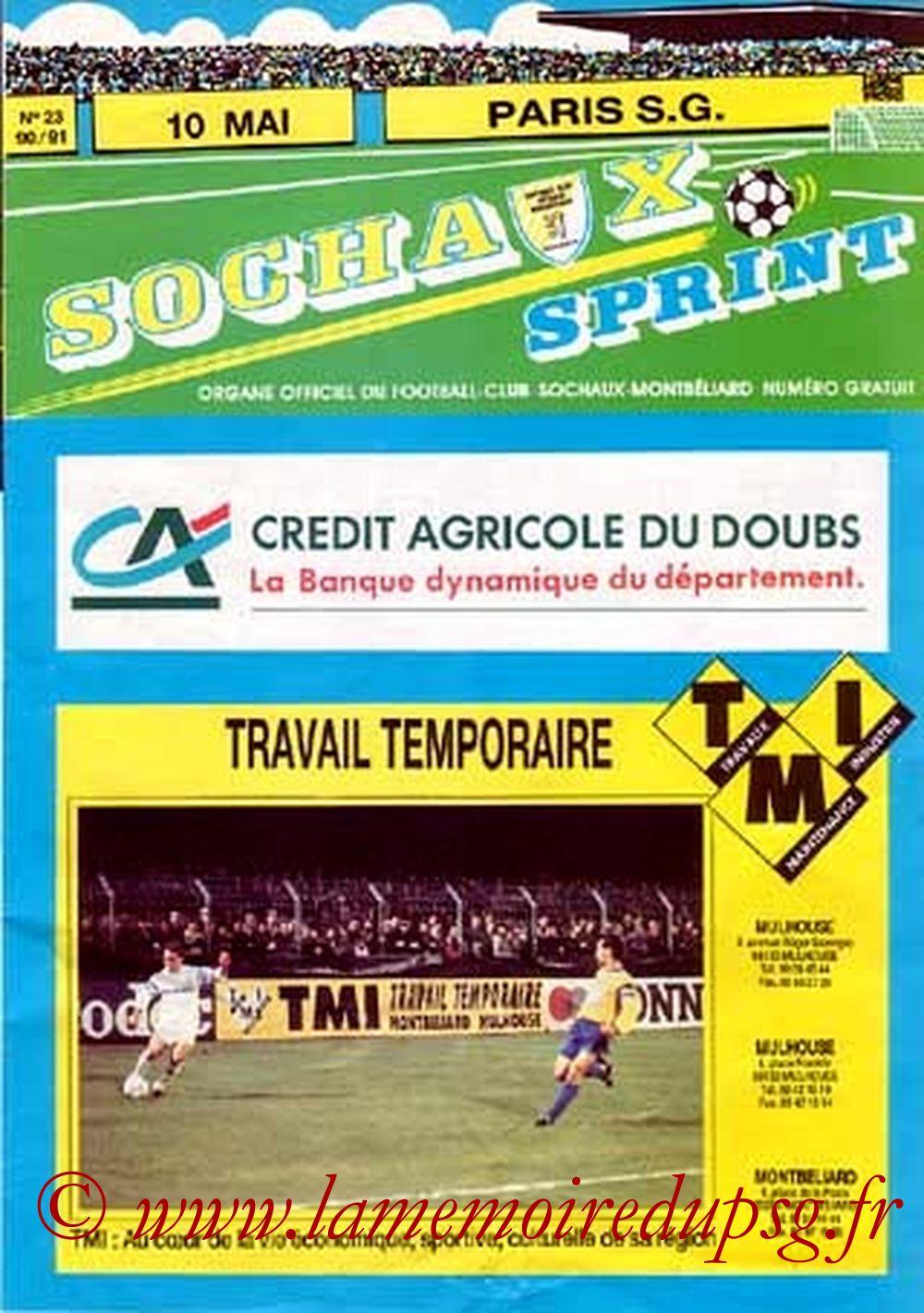 1991-05-10  Sochaux-PSG (36ème D1, Sochaux Sprint N°23, Collection JNT)