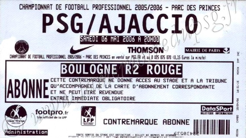 2006-05-06  PSG-Ajaccio (37ème L1)