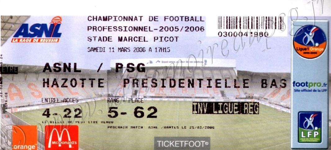 2006-03-11  Nancy-PSG (30ème D1)