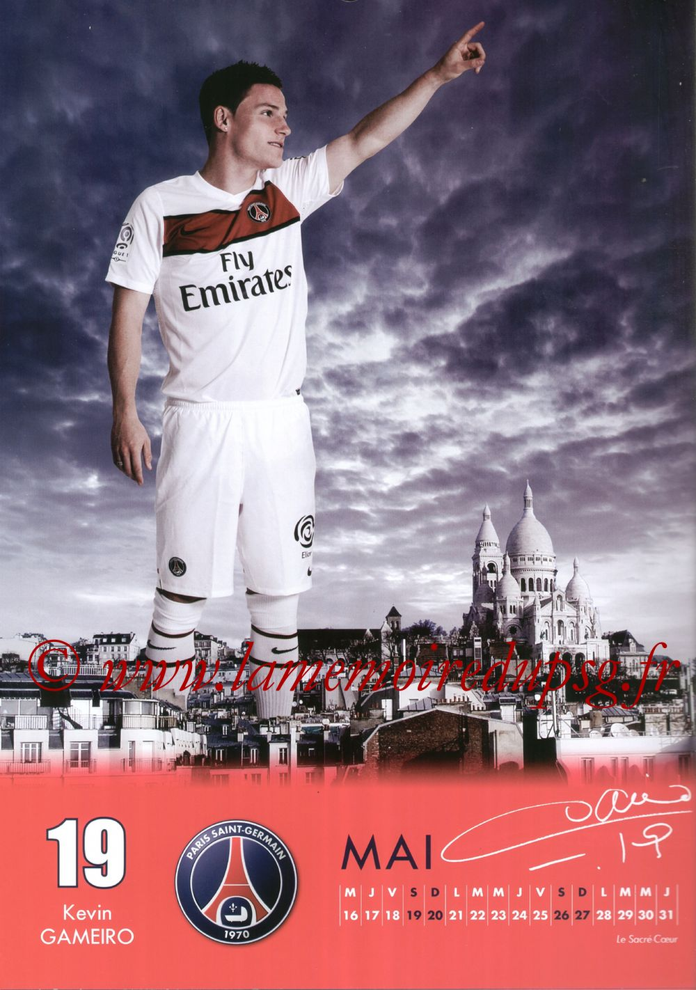 Calendrier PSG 2012 - Page 10 - Kevin GAMEIRO