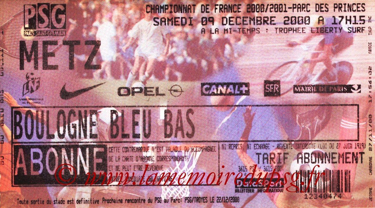 2000-12-09  PSG-Metz (20ème D1)