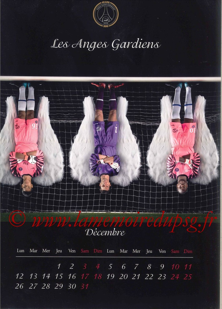 Calendrier PSG 2011 - Page 23 - Les Anges Gardiens
