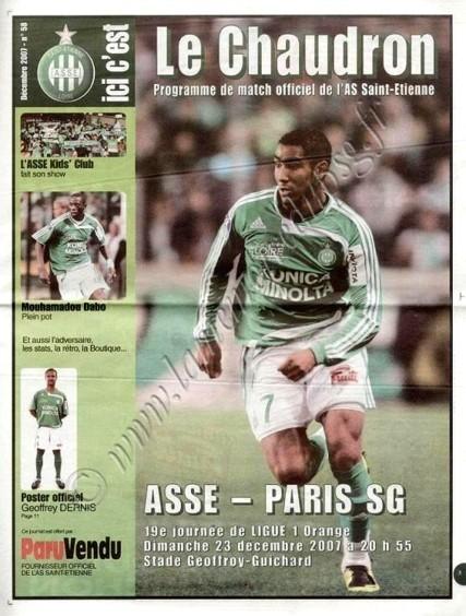 2007-12-23  Saint Etienne-PSG (19ème L1, Ici c'est le chaudron N° 58)