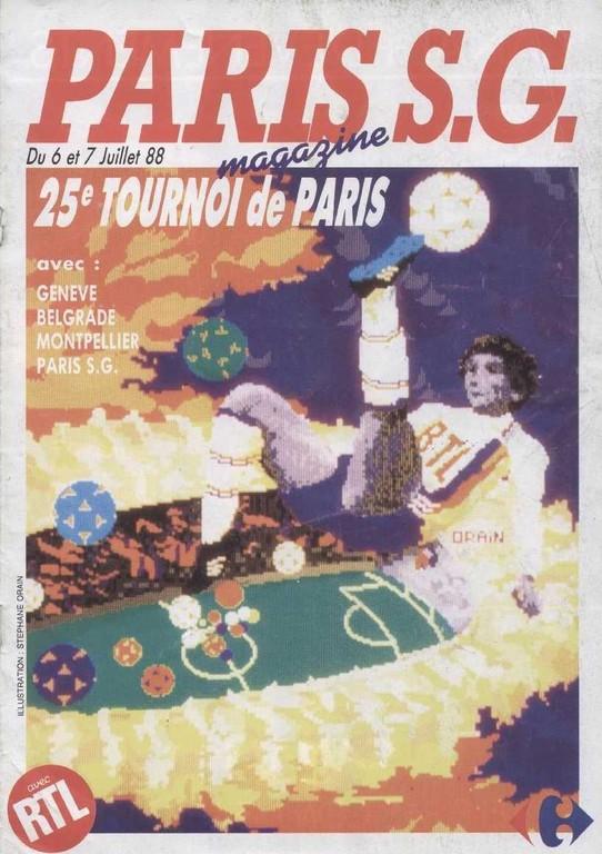 1988-07-06 et 07  PSG-Servette Genève et PSG-Montpellier (25ème Tournoi de Paris, Paris SG Magazine HS)