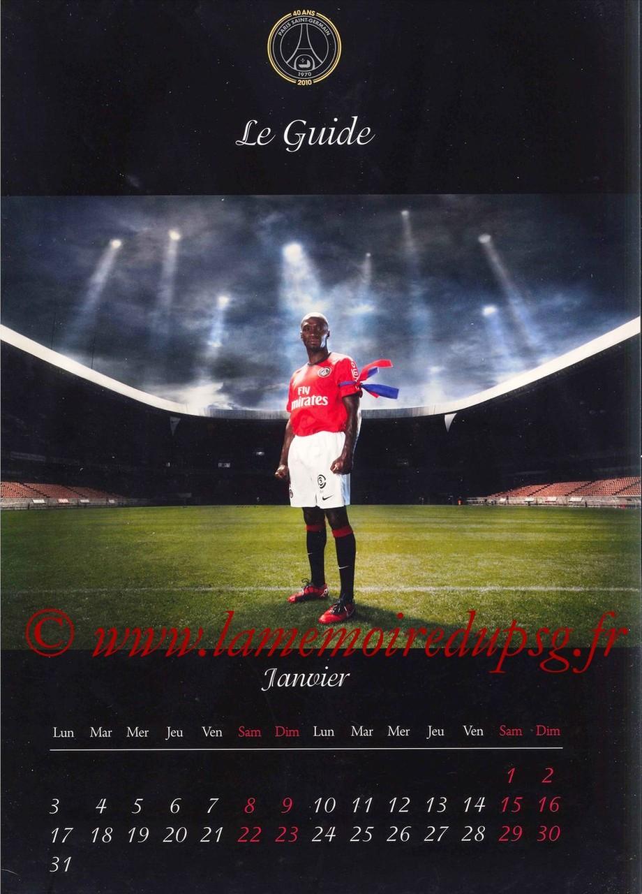 Calendrier PSG 2011 - Page 01 - Le Guide