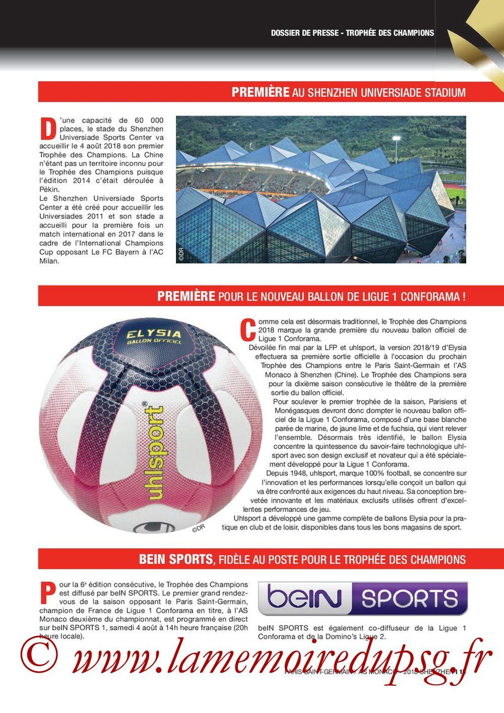 2018-08-04  PSG-Monaco (Trophée des Champions à Shenzhen, Dossier de Presse) - Page 15