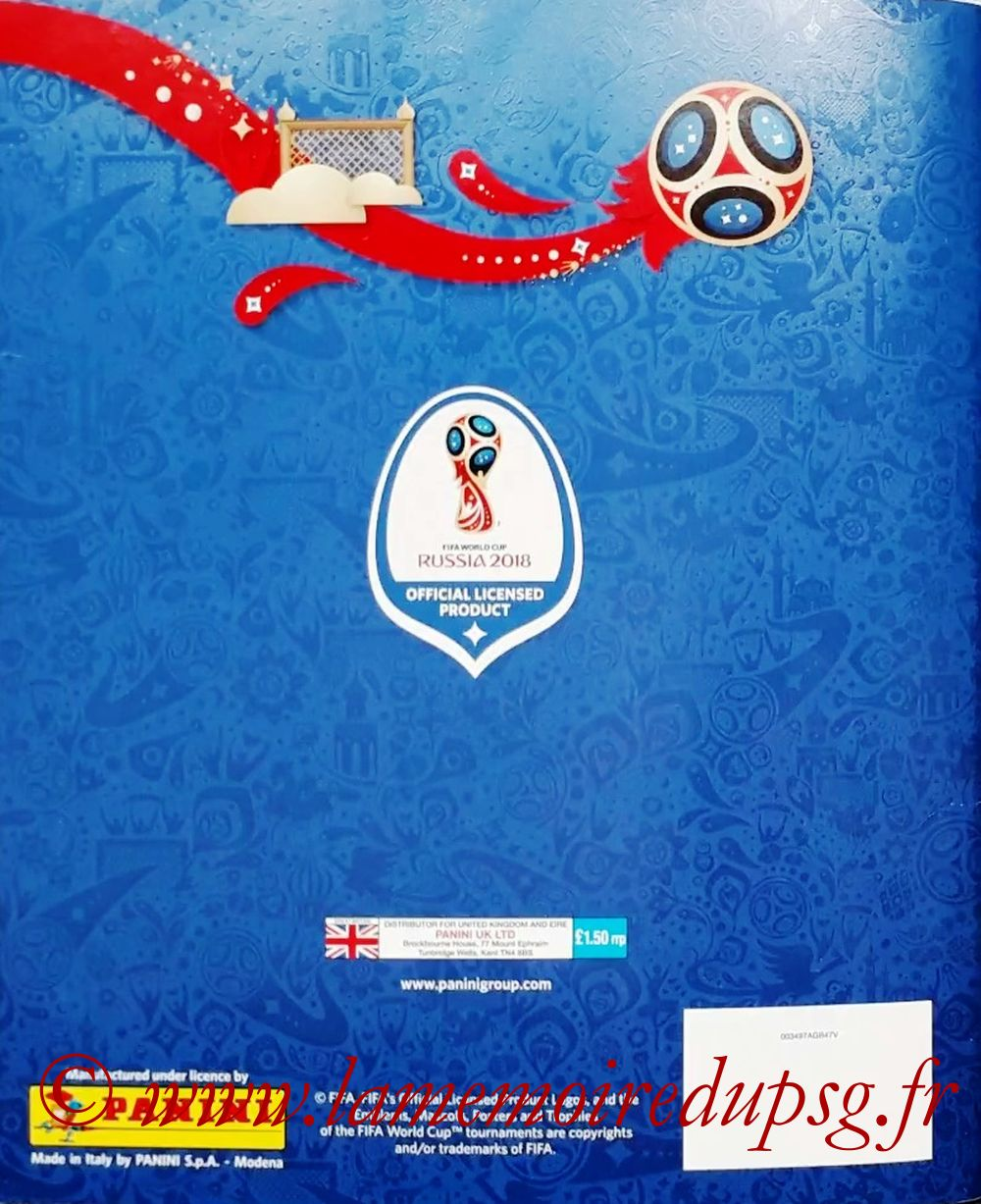 2018 - Panini FIFA World Cup Russia Stickers - Dos Album