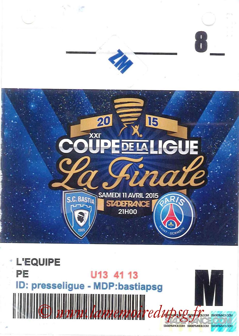 2015-04-11  Bastia-PSG (Finale CL à Saint-Denis, Presse)