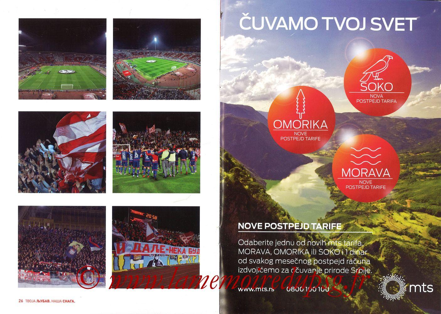 2018-12-11  Etoile Rouge de Belgrade-PSG (6ème C1, Programme officiel) - Pages 26 et 27