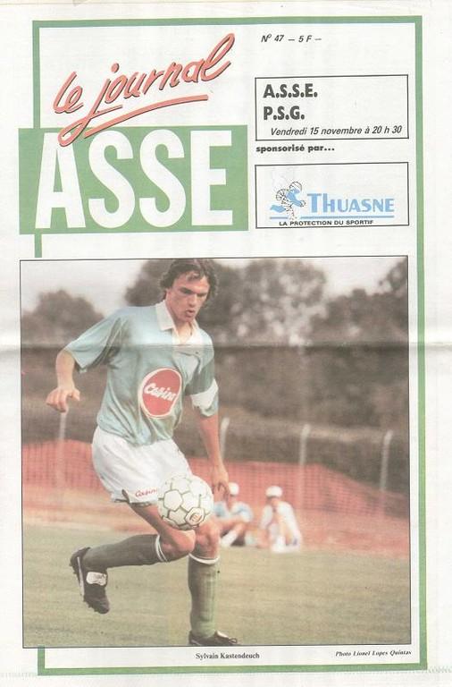1991-11-15  Saint Etienne-PSG (18ème D1, ASSE Le journal N°47)