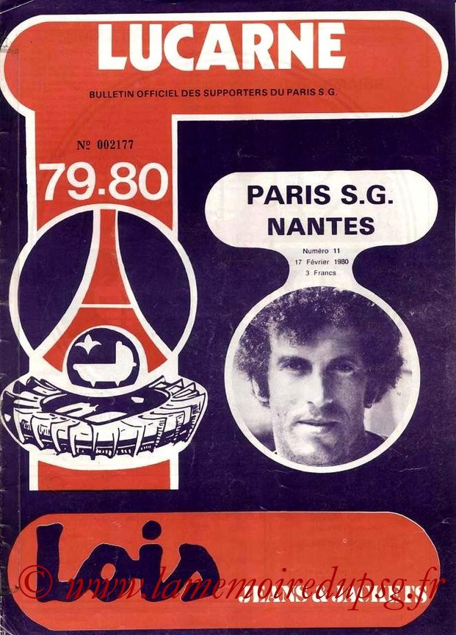 1980-02-17  PSG-Nantes (25ème D1, Lucarne N°11)
