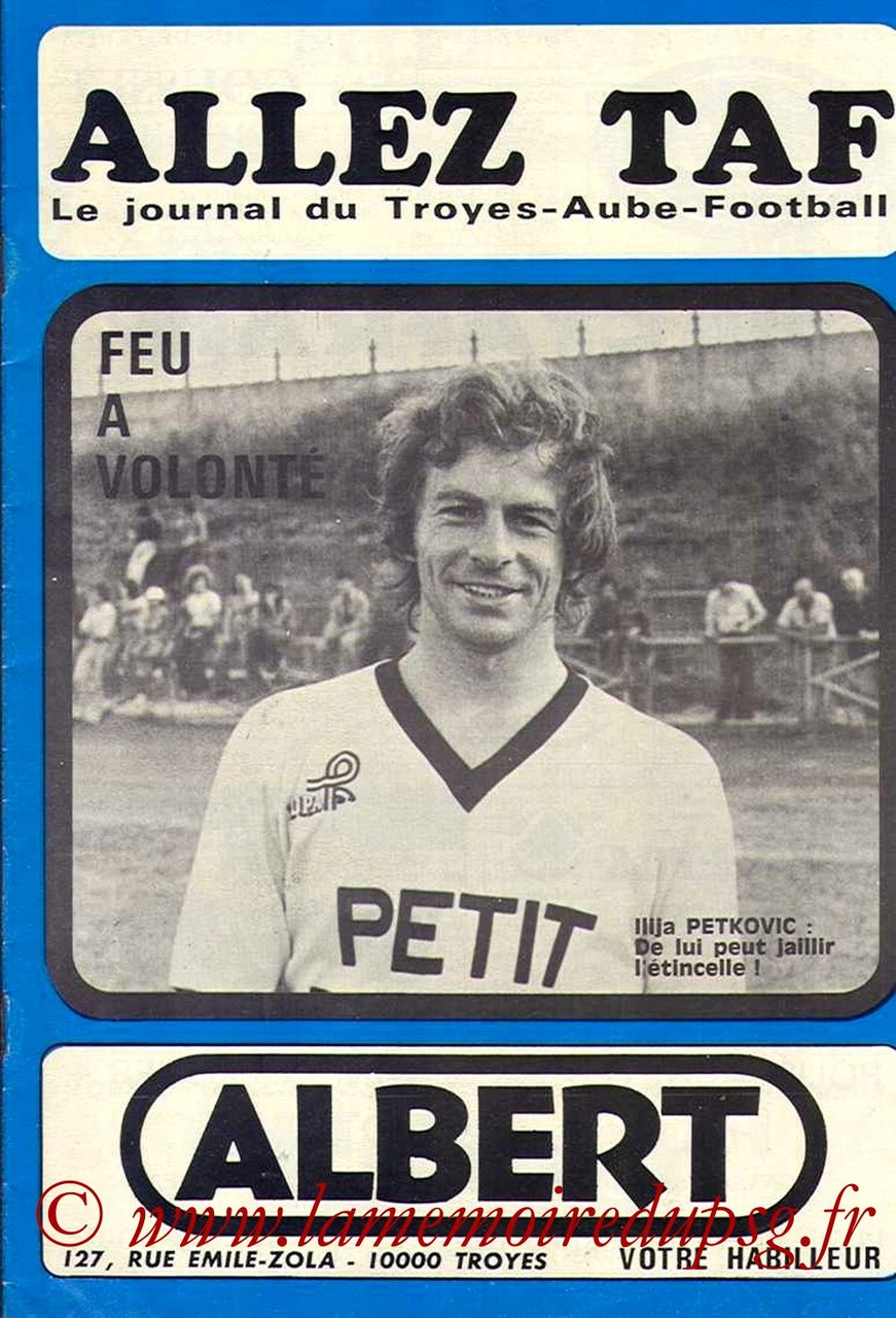 1976-04-02  Troyes-PSG (30ème D1, Allez TAF)