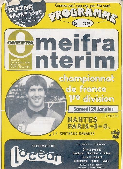 1983-01-29  Nantes-PSG (23ème D1, Programme Officiel)