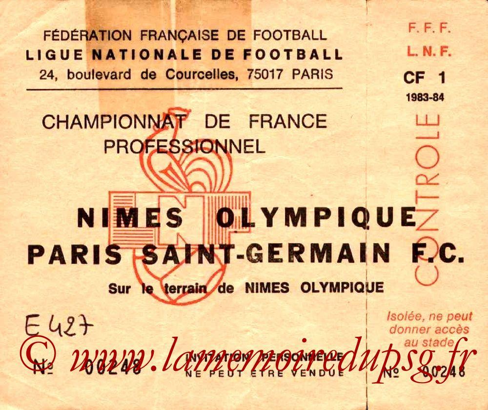 1983-10-15  Nîmes-PSG (14ème D1, Invitation)