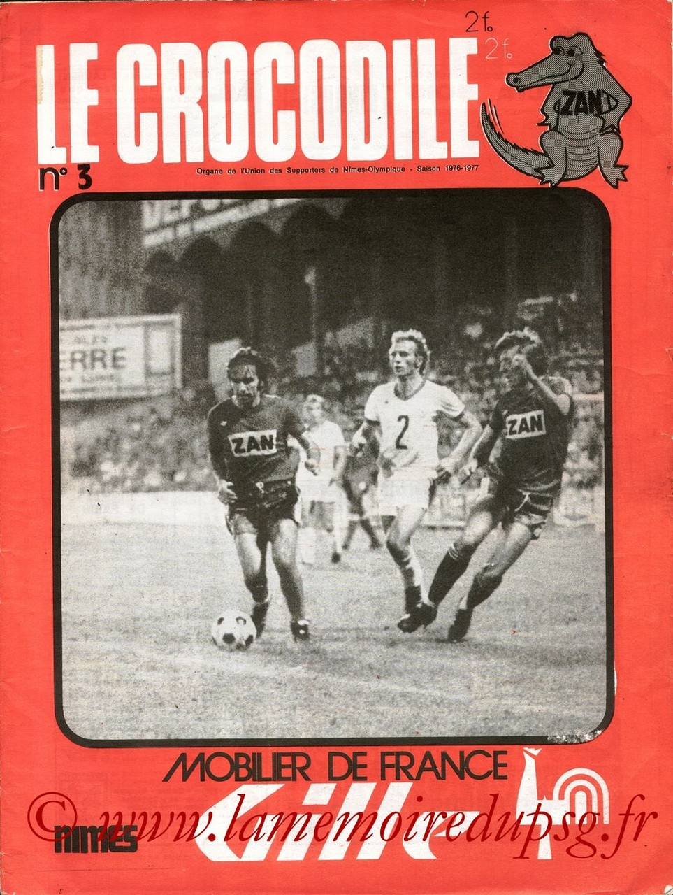 1976-09-16  Nîmes-PSG (5ème D1, Le Crocodile N°3)