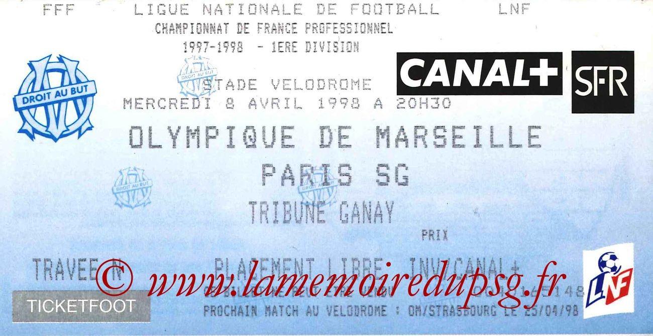 1998-04-08  Marseille-PSG (31ème D1)