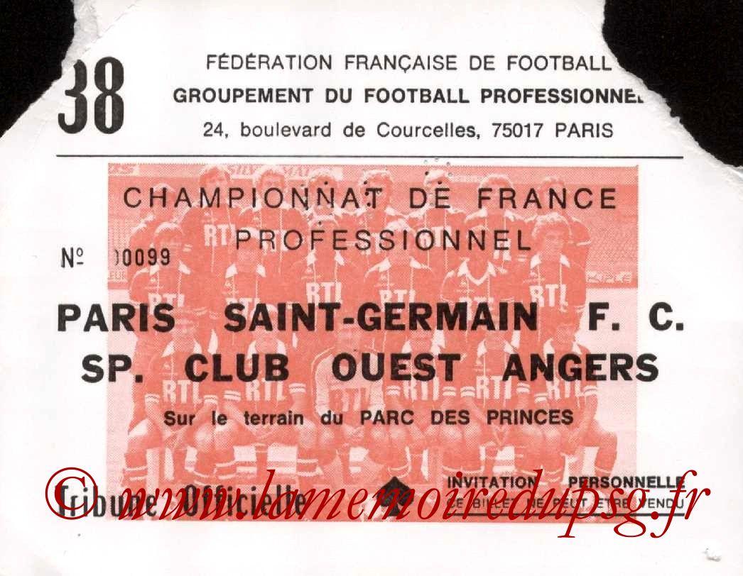 1981-06-02  PSG-Angers (38ème D1, Invitation)