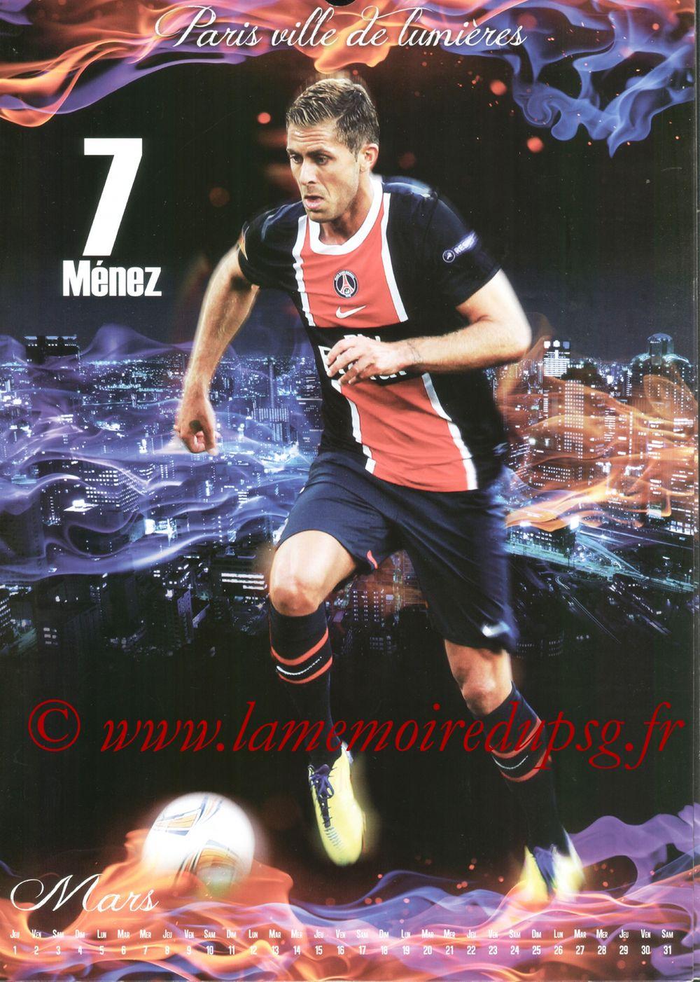 Calendrier PSG 2012bis - Page 03- Jérémy MENEZ
