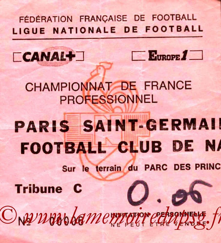 1985-10-11  PSG-Nantes (15ème D1, Invitation)
