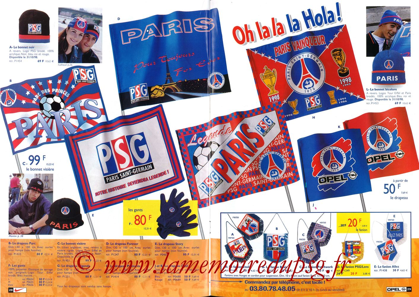 Catalogue PSG - 1998-99 - Pages 28 et 29