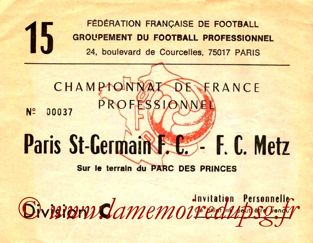 1976-11-21  PSG-Metz (15ème D1, Invitation)