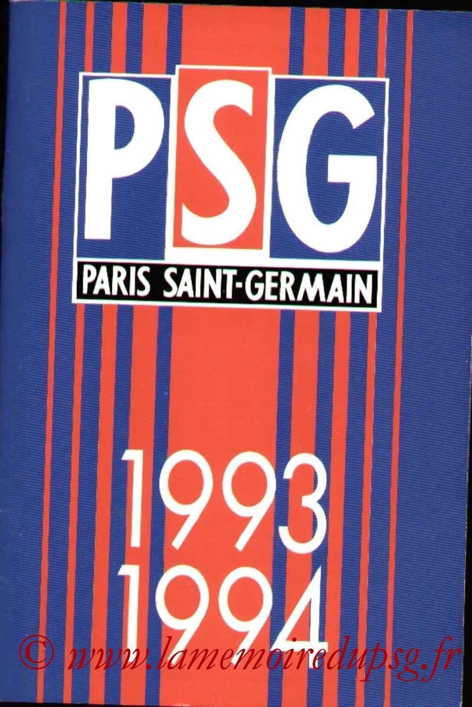 1993-94 - Guide de la Saison PSG