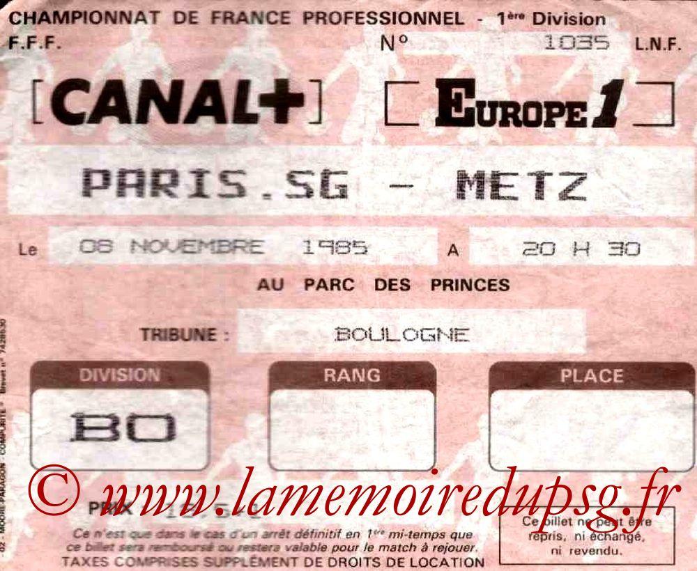 1985-11-08  PSG-Metz (19ème D1)