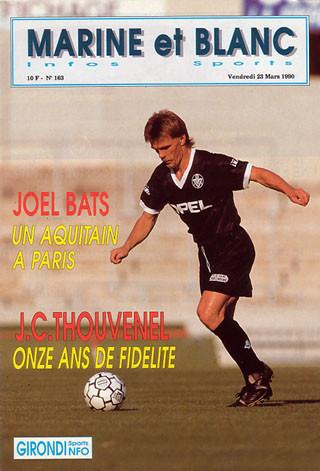 1990-03-24  Bordeaux-PSG (30ème D1, Marine et blanc N°163)