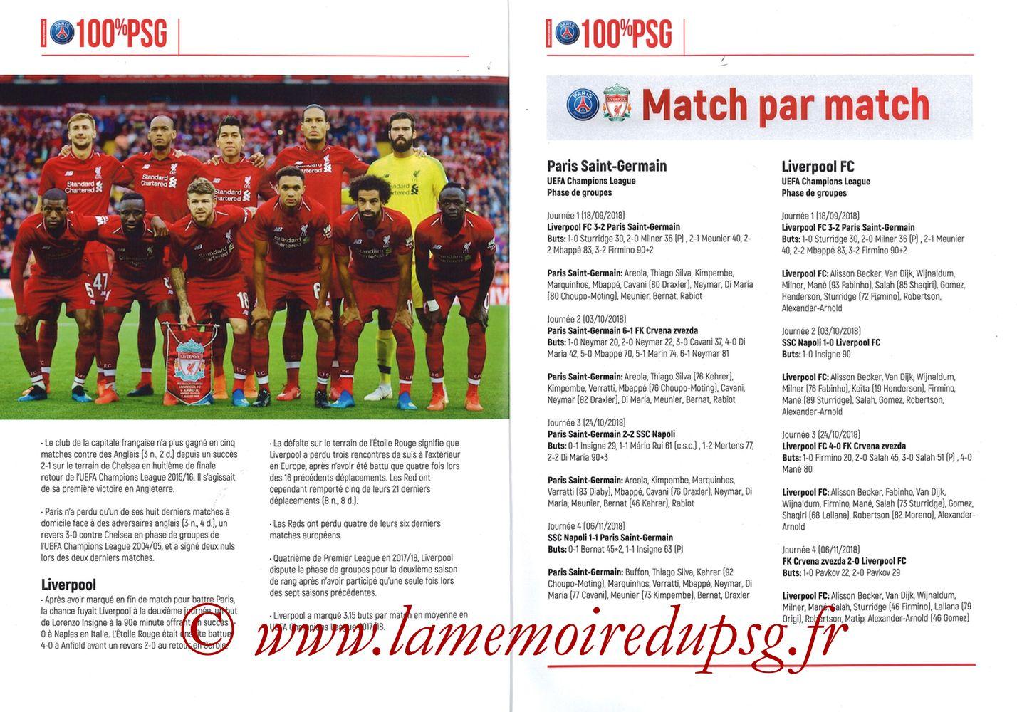 2018-11-28  PSG-Liverpool (5ème Poule C1, 100% PSG N° 172) - Pages 04 et 05