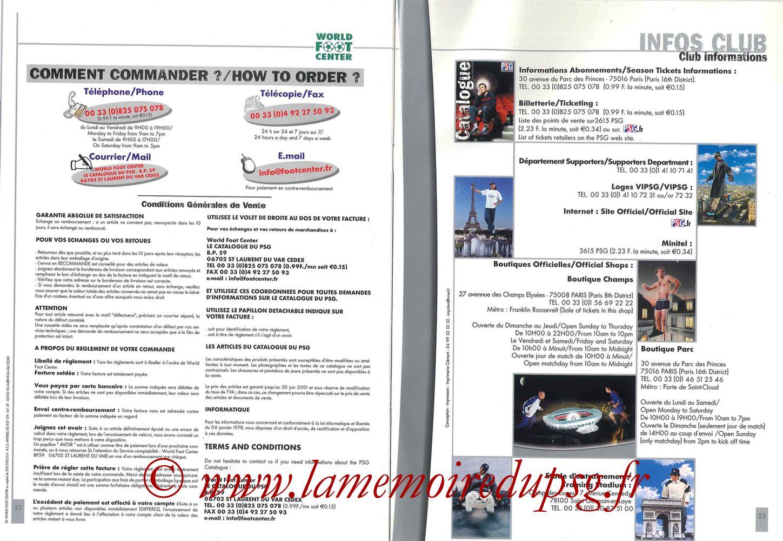 Catalogue PSG - 2000-01 - Pages 22 et 23