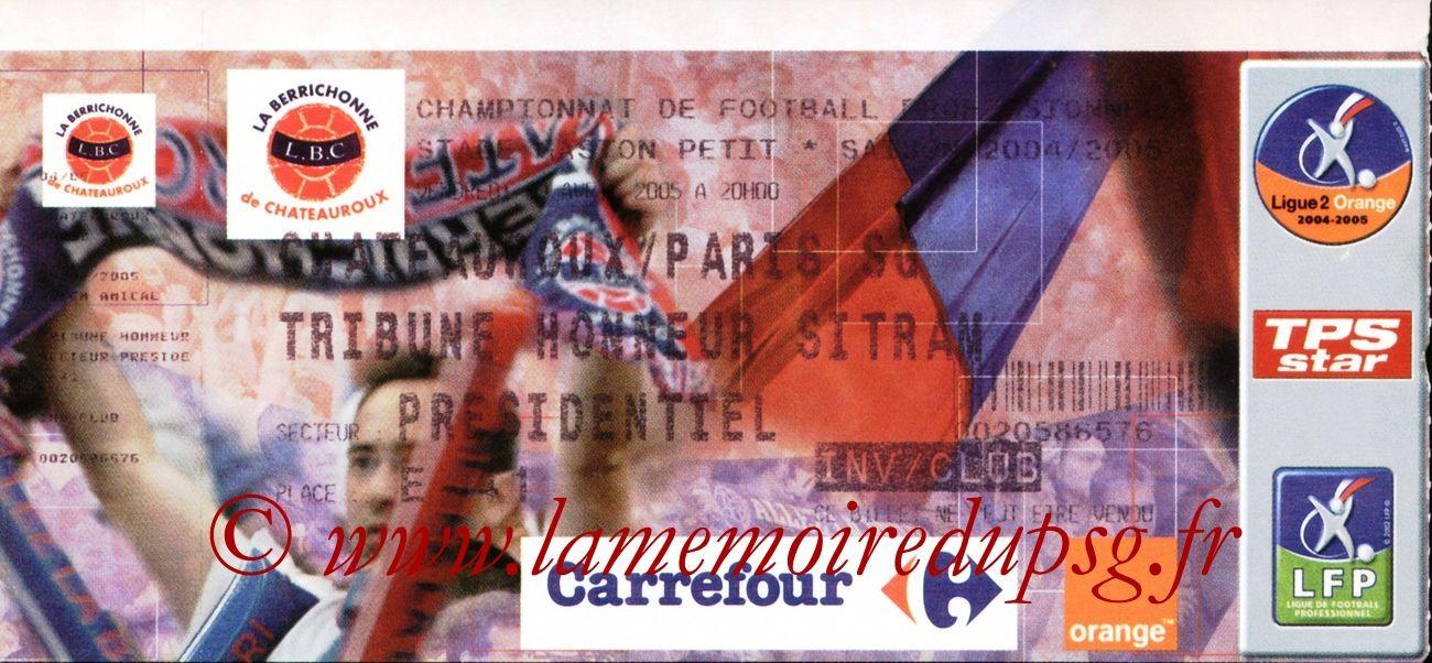 2005-04-29  Chateauroux-PSG (Amical à Chateauroux)