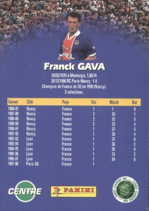 N° 134 - Franck GAVA (Verso)