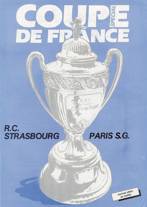 1987-04-07  Strasbourg-PSG (16ème finale Retour CF, Programme officiel)