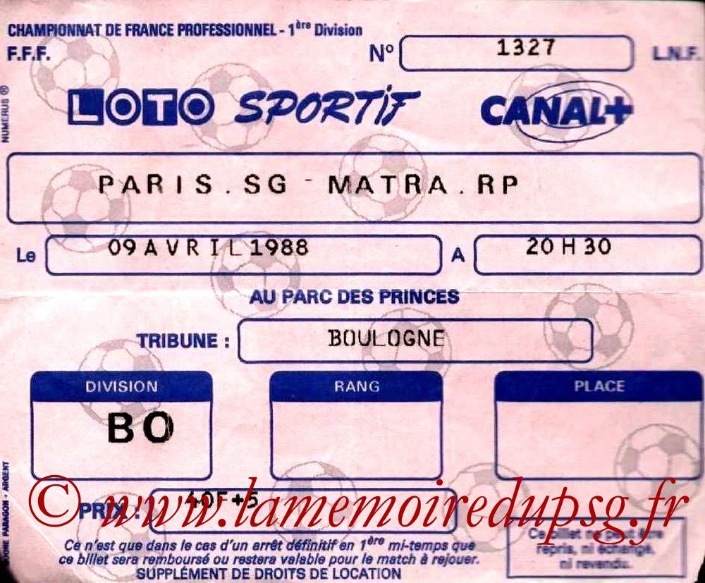 1988-04-08  PSG-Matra Racing (31ème D1)