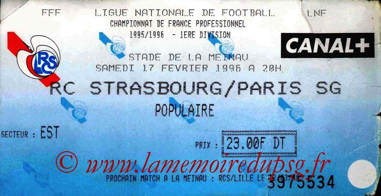 1996-02-17  Strasbourg-PSG (28ème D1)