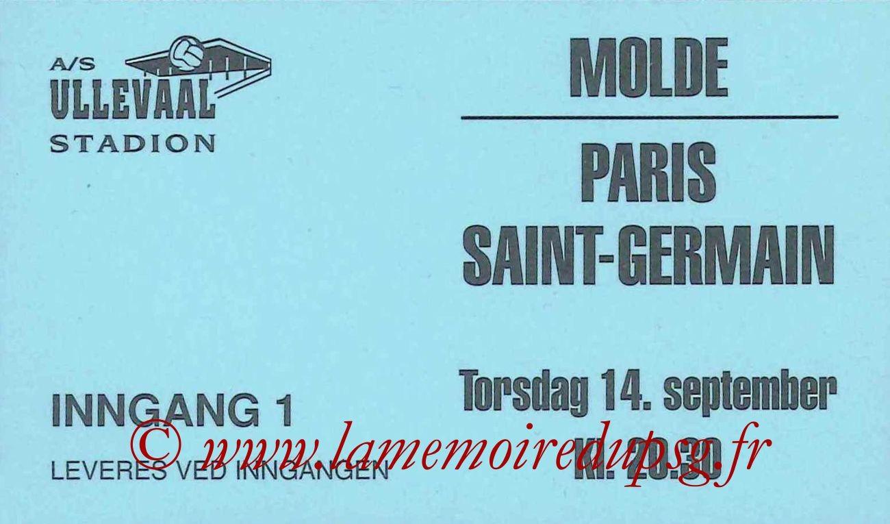 1995-09-14  Molde-PSG (16ème Finale Aller C2)