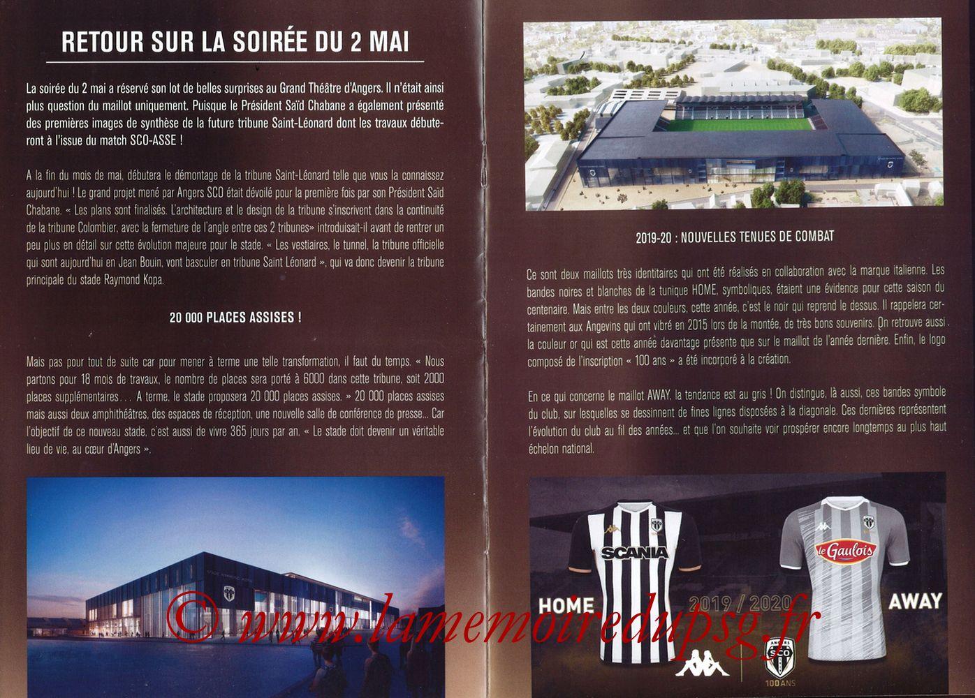 2019-05-11  Angers-PSG (36ème L1, Programme officiel N°18) - Pages 04 et 05