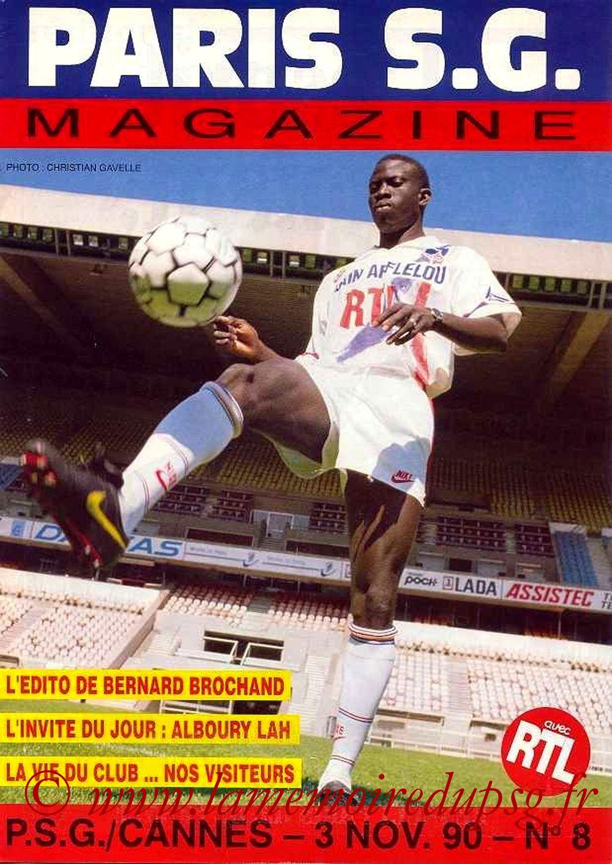 1990-11-03  PSG-Cannes (15ème D1, Paris SG Magazine N°8)