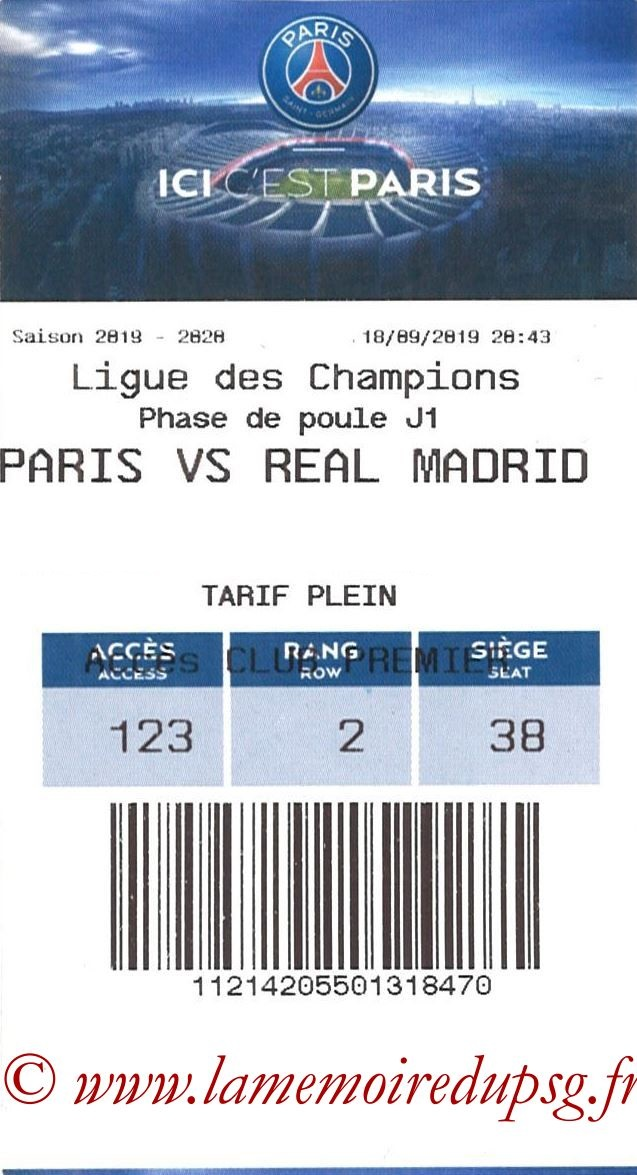 2019-09-18  PSG-Real Madrid (1ère C1, E-ticket)