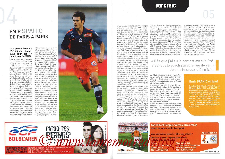 2010-10-31  Montpellier-PSG (11ème L1, L'Echo de la Mosson N°6) - Pages 04 et 05