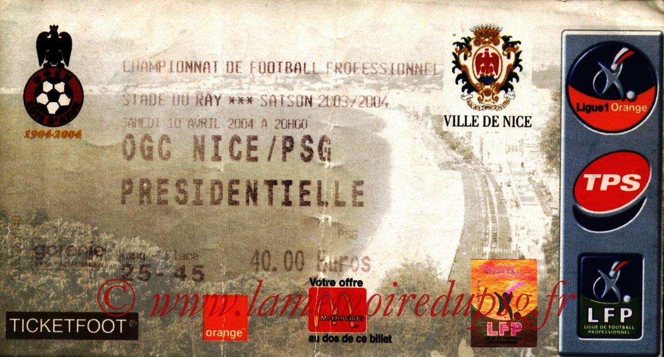 2004-04-10   Nice-PSG (32ème L1)