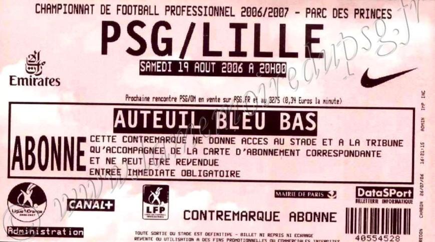 2006-08-19  PSG-Lille (3ème L1)