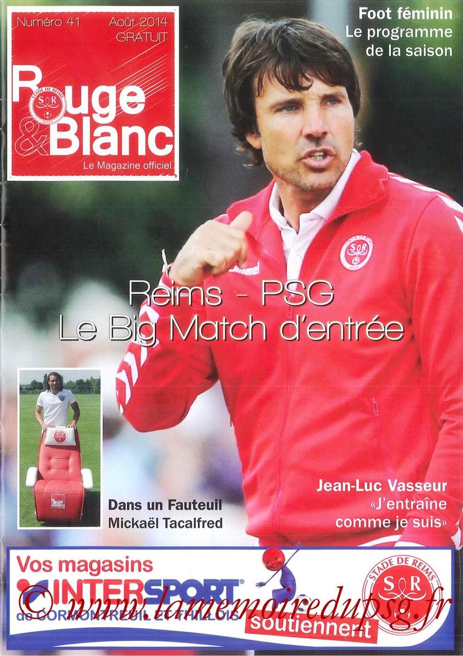 2014-08-08  Reims-PSG (1ère L1, Rouge et Blanc N°41)