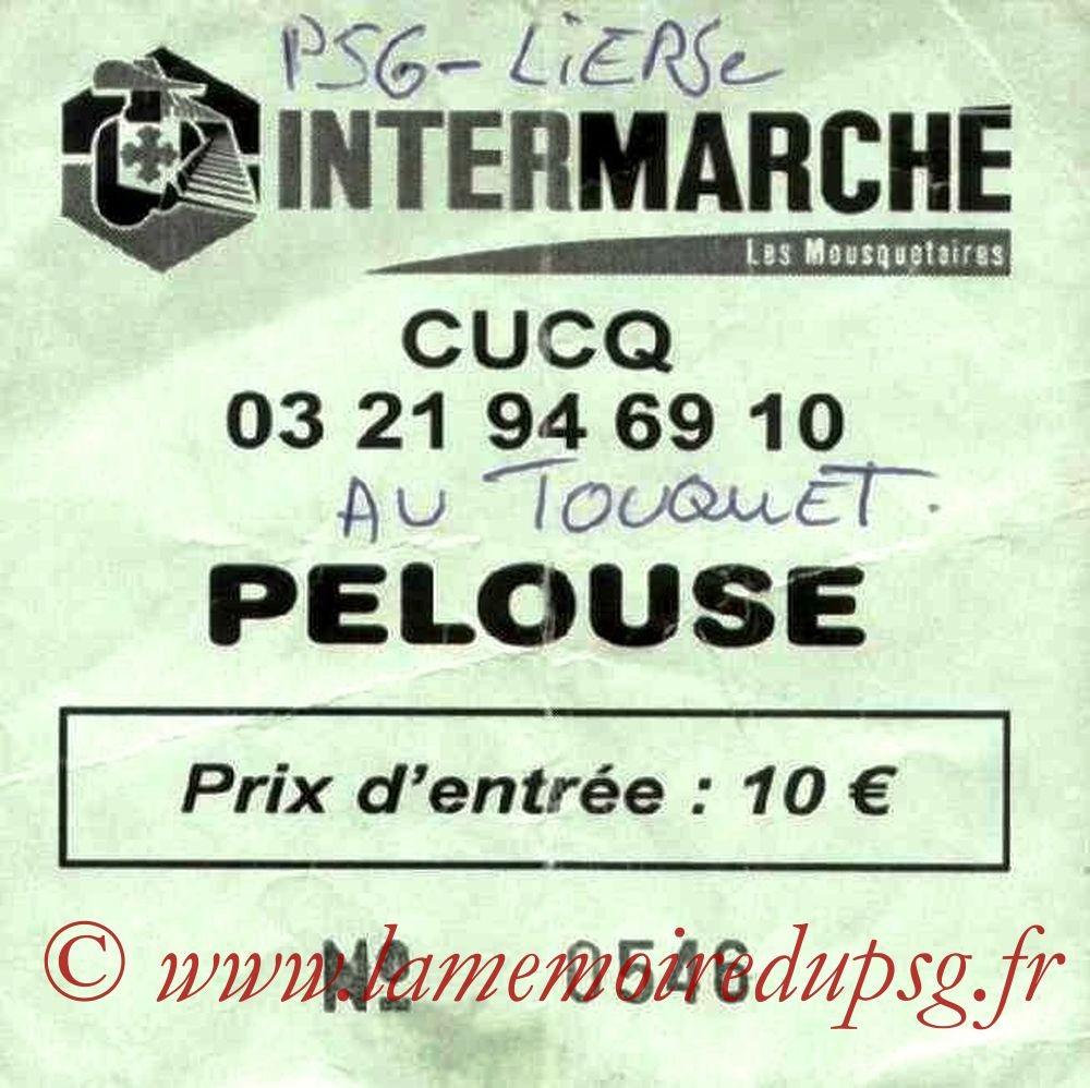 2002-07-23  PSG-SK Lierse (Amical au Touquet)