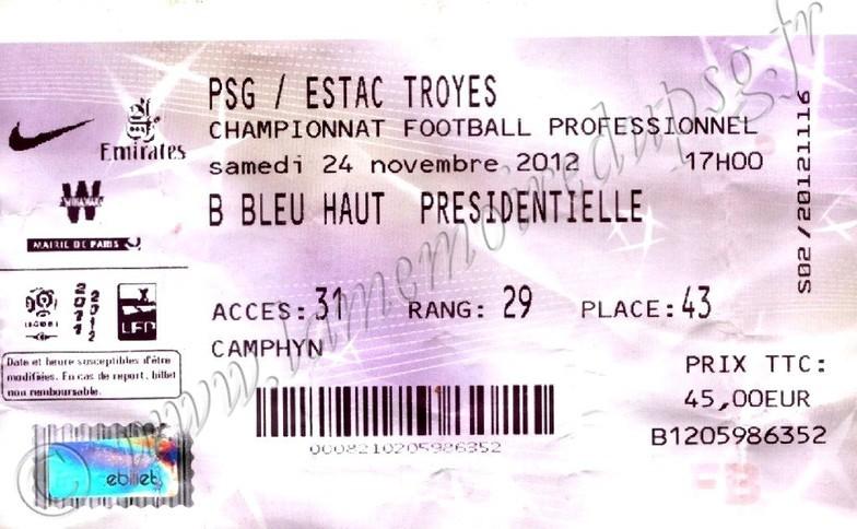2012-11-24  PSG-Troyes (14ème L1, Billetel)