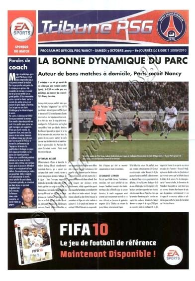 2009-10-03  PSG-Nancy (8ème L1,Tribune PSG)