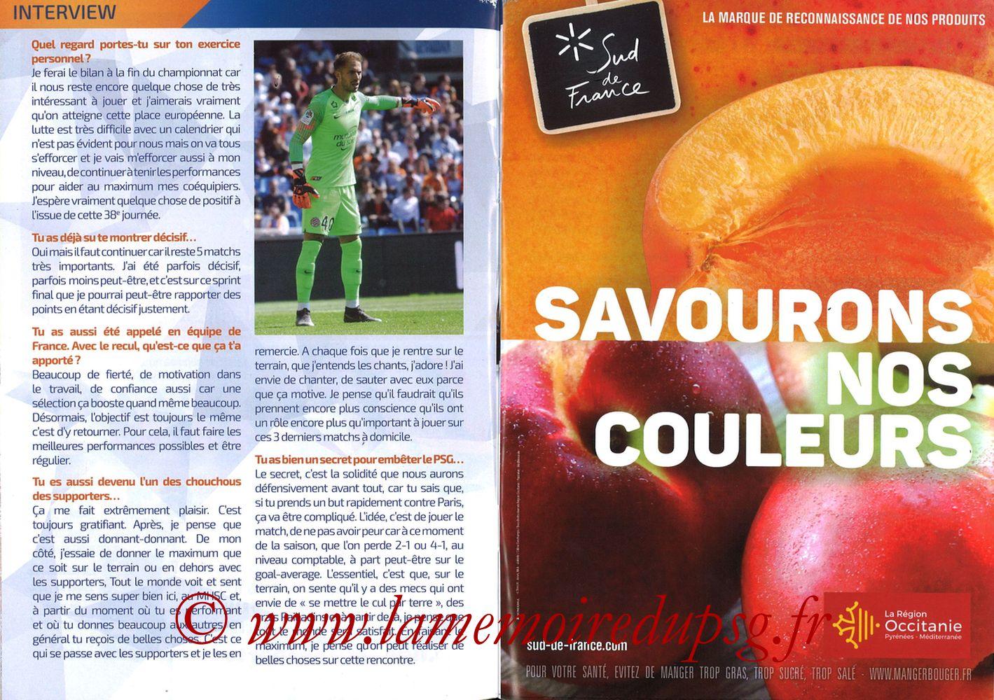 2019-04-30  Montpellier-PSG (34ème L1, L'Echo de la Mosson N°17) - Pages 06 et 07