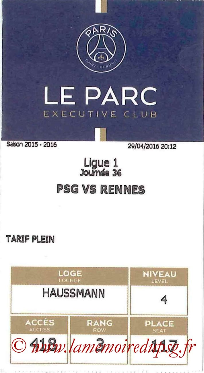 2016-04-29  PSG-Rennes (36ème L1, E-ticket Executive club)